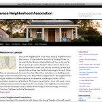 Lavaca Neighborhood Association screenshot